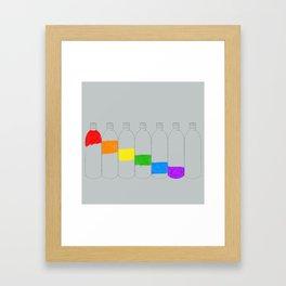 Rainbow Bottles Framed Art Print