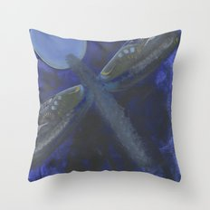Patchwork Dragonfly Throw Pillow
