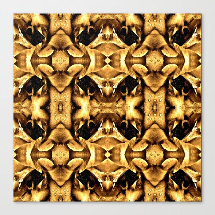 Gold Brown Fantasy Pattern Canvas Print