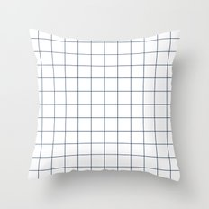 Chek - check grid simple minimal black and white modern urban brooklyn nashville hipster gifts Throw Pillow