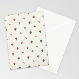 double cross - rust on cream Stationery Cards