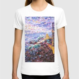 Blue Mood Nautical Seacoast landscape painting by Emil Nolde T-shirt