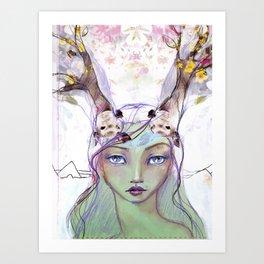Dear Deer by Jane Davenport Art Print
