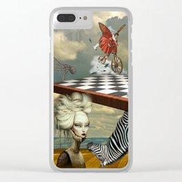 Zebra Upside Down Clear iPhone Case