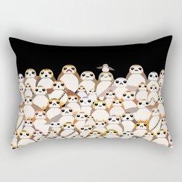 Galatic Penguins on Black Rectangular Pillow