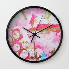 Pink Glam Wall Clock