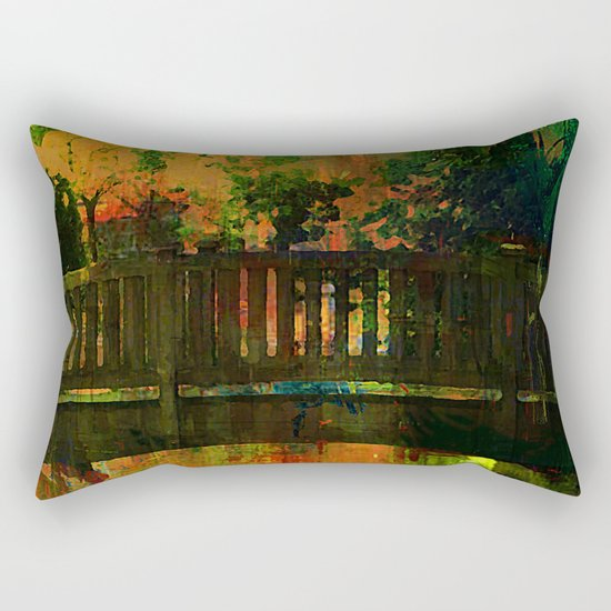 The bridge of Central Park Rectangular Pillow