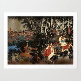 War in 1100's in Japan Art Print