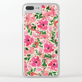 Red Rose Bouquet Clear iPhone Case