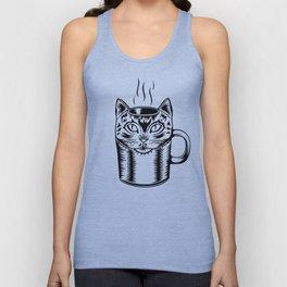 Coffee Cat Unisex Tank Top