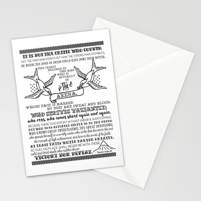 in the arena Stationery Cards