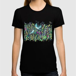 Little Garden Birds in Watercolor T-shirt
