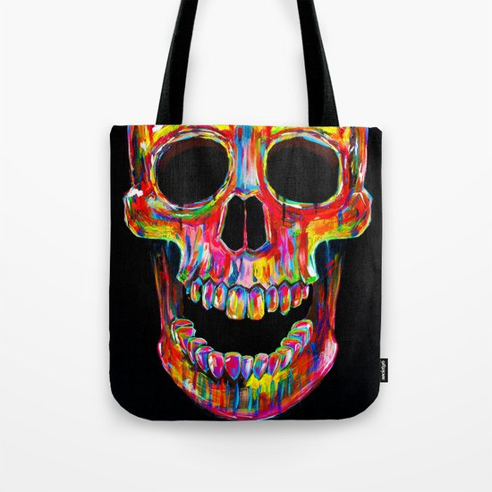Chromatic Skull Tote Bag