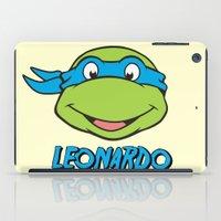 leonardo dicaprio iPad Cases featuring Leonardo by husavendaczek