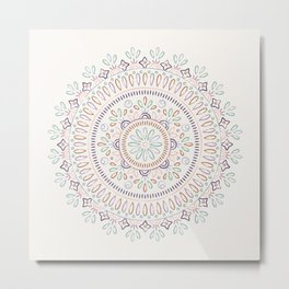 Jardin Mandala - Orchid Metal Print