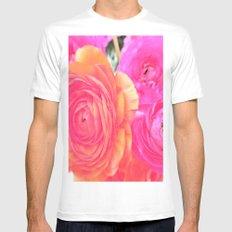wonderful pink flowers Mens Fitted Tee MEDIUM White