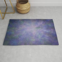 Abstract Soft Watercolor Gradient Ombre Blend 3 Purple Blue and Green Rug