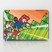 inception iPad Cases featuring Inception Mario by thickblackoutline