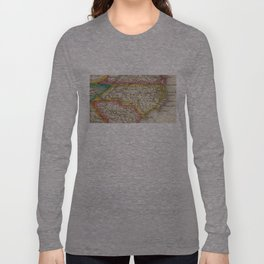 Vintage Map of North Carolina (1822) Long Sleeve T-shirt