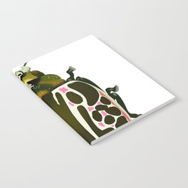 Green, White, Pink Beetle Notebook