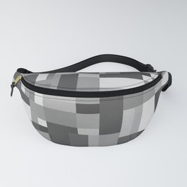 Map Tex Black and White Fanny Pack