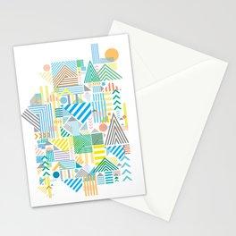 Geometric Mountain Landscape Stationery Cards