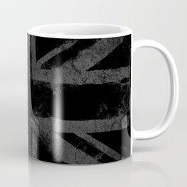 Grey Grunge UK flag Coffee Mug