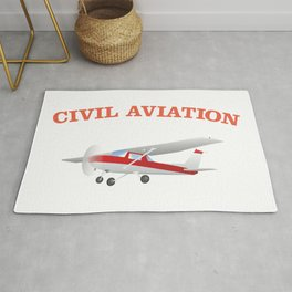 Civil Single-engined High Wing Airplane Rug