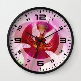 Close up Orchid #2 Wall Clock
