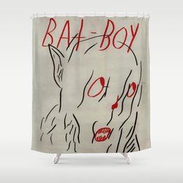 Bat Boy Shower Curtain