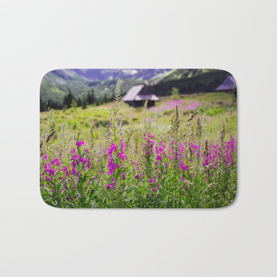 Fireweed In The Mountains Bath Mat