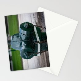 Tilting Green Waterous Pacer Fire Hydrant Crooked Fire Plug Stationery Cards