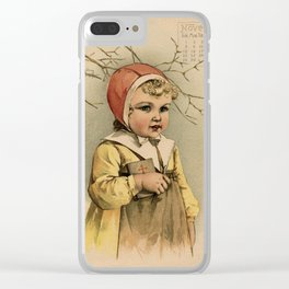 Swedish Girl Maud Humphrey Clear iPhone Case