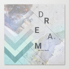 DREAM on many levels Canvas Print
