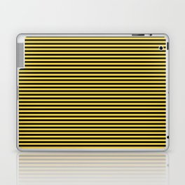 Even Horizontal Stripes, Yellow and Black, XS Laptop & iPad Skin