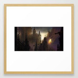 Here comes the fire Framed Art Print