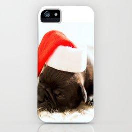 Christmas dog iPhone Case