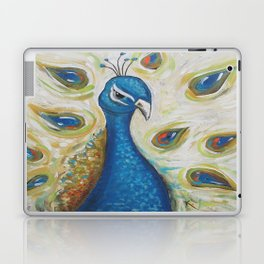 Peacock with White Laptop & iPad Skin