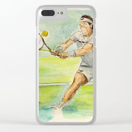 Rafael Nadal Pro Tennis Player Clear iPhone Case