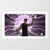 tesla Art Prints featuring Tesla by Todd A. Winter