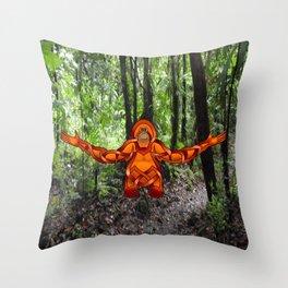 Orangutan Knot Throw Pillow