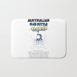 Australian Blue Buttle Bath Mat