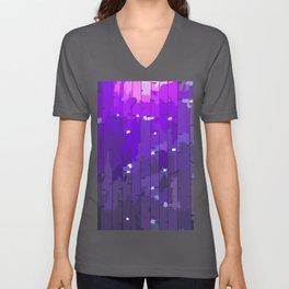 Purple Rain. Fashion Textures Unisex V-Neck