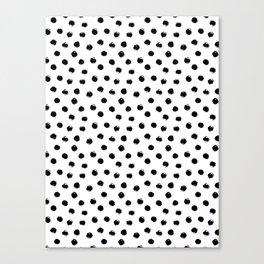 Black Polka Dots I Canvas Print