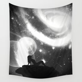 Space Noir Wall Tapestry