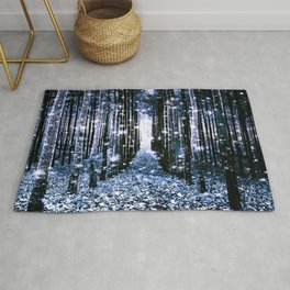 Magical Forest Dark Blue Elegance Rug