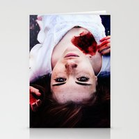 pain Stationery Cards featuring Pain by Lídia Vives