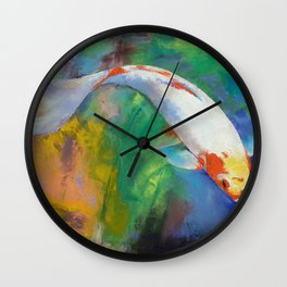 Koi Art Pirouette Wall Clock