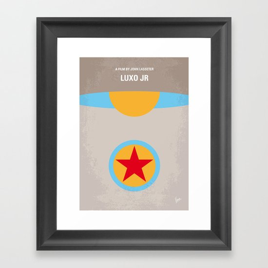 No171 My LUXO JR minimal movie poster Framed Art Print