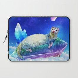Ferret in the Sky with Crystals Laptop Sleeve